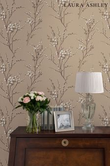 Laura Ashley Natural Pussy Willow Wallpaper
