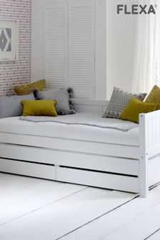 Nordic Daybed with Storage Drawers and Pull Out Bed by Flexa