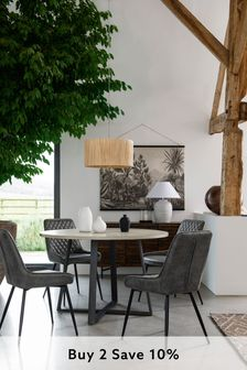 Alma Mango Wood 4 Seater Round Dining Table