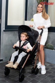 My Babiie Dreamiie Black Marble Stroller