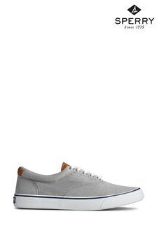 Sperry Grey Striper II Cvo Canvas Shoes
