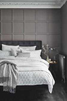 Murmur Tulip Print Cotton Duvet Cover and Pillowcase Set