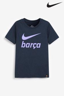 Nike Navy Barcelona Kids Swoosh T-Shirt