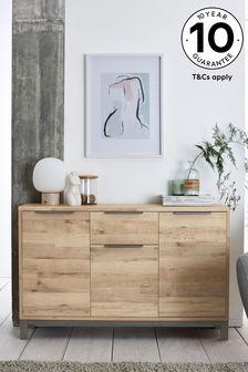 Bronx Oak Effect Slim Large Sideboard with Drawer