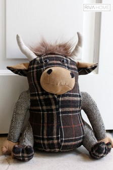 Highland Cow Doorstop by Riva Home