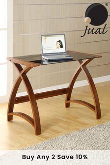 Helsinki 900 Walnut Laptop Table by Jual