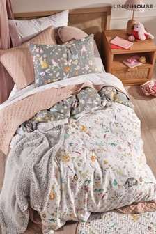 Linen House Kids Multi Garden Friends Duvet Cover and Pillowcase Set