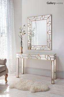 Verbier Gold Geo Mirror by Gallery Direct