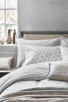 Set of 2 Murmur Leaf Print Cotton Pillowcases