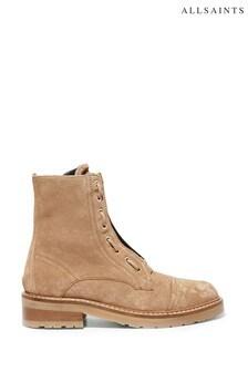 AllSaints Cognac Sand Suede Ariel Cow Suede Ankle Boots