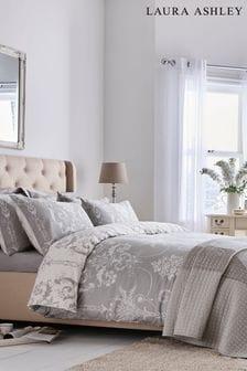 Laura Ashley Steel Josette Duvet Cover and Pillowcase Set