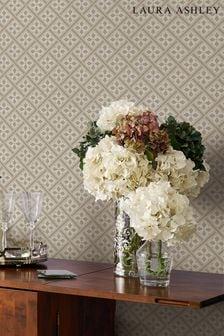 Laura Ashley Dove Grey Mr Jones Paintable Wallpaper