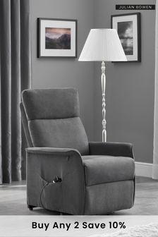 Helena Charcoal Recliner Chair by Julian Bowen