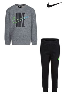 Nike Little Kids Rise Logo Crew and Jogger Set
