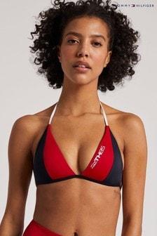 Tommy Hilfiger Red TH 85 Triangle Bikini Top