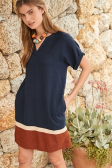 Linen Blend Kaftan Dress