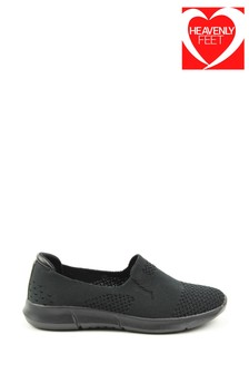 Heavenly Feet Holly Ladies Black Ath-leisure Shoes