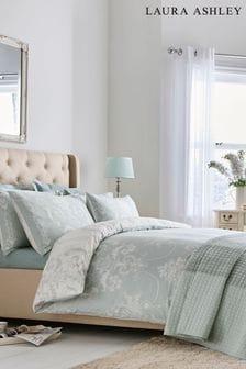 Laura Ashley Duck Egg Josette Duvet Cover and Pillowcase Set