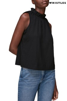 Whistles Ruched Neck Top