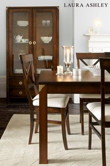 Balmoral Dark Chestnut Pair Of Dining Chairs by Laura Ashley