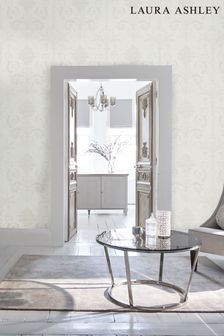 Laura Ashley Pearlescent White Josette Wallpaper