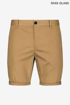 River Island Brown Light Vienna Slim Shorts