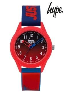 Hype. Red/Blue Paint Drip Kids Watch