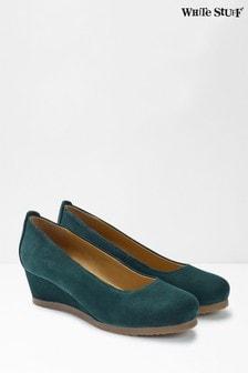 White Stuff Blue Issy Wedge Shoes