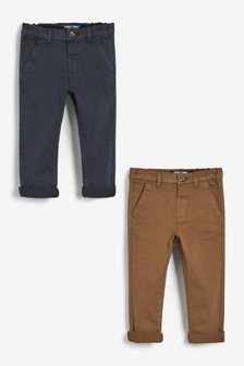 2 Pack Chino Trousers (3mths-7yrs)