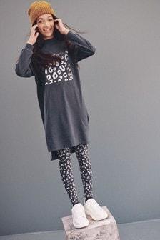 Longline Dress With Leggings (3-16yrs)