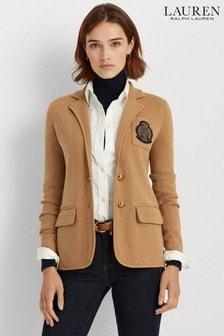 Lauren Ralph Lauren® Camel Crest Logo Jersey Alvarta Blazer