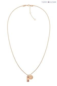 Tommy Hilfiger Ladies Carnation Gold Necklace