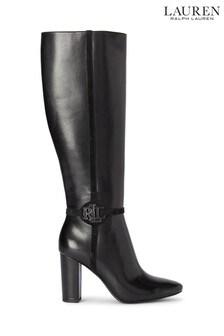 Lauren Ralph Lauren Black Marion High Boots