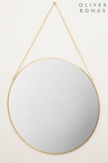Oliver Bonas Gold Large Round Wall Mirror