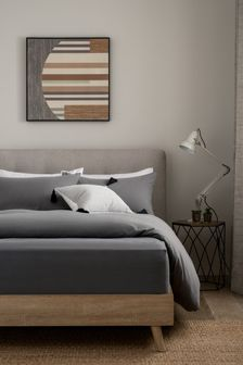 Charcoal 100% Cotton Supersoft Brushed Deep Fitted Sheet