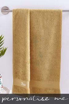 Personalised Ochre Towel