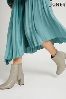 Jones Bootmaker Mink Neptune Leather Ladies Heeled Ankle Boots