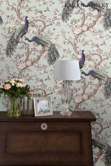 Laura Ashley Duck Egg Belvedere Wallpaper