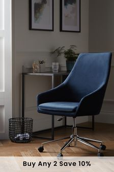 Cora Office Desk Chair with Chrome Base