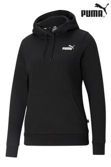 Puma Essentials Black Logo Hoody