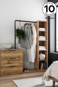 Bronx Chest and Hanging Rail with Shelving