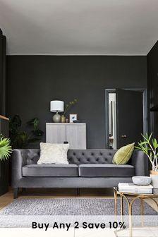 Elsie Velvet Sofa with Black Feet