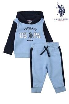 U.S. Polo Assn. Blue Authentic USPA Overhead Hoodie And Joggers Set