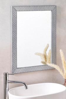 Geo Print Framed Mirror