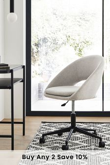 Hewitt Office Desk Chair with Black Base