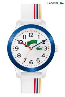 Lacoste White Kids Striped Watch