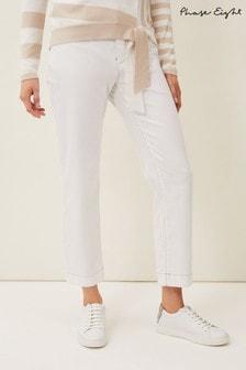 Phase Eight White Ramona Straight Leg Jeans