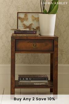 Balmoral Dark Chestnut 1 Drawer Side Table by Laura Ashley