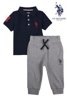 U.S. Polo Assn. Player Polo Shirt and Jogger Set