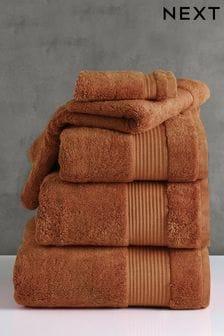 Burnt Orange Egyptian Cotton Towels